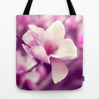 Lonely Flower - Radiant Orchid Tote Bag by Libertad Leal Photography