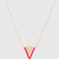 Leo Necklace - Neon Pink - One Size / Pink
