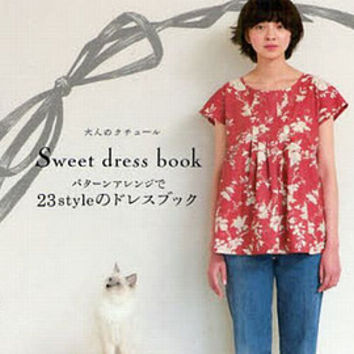 Simple and Lovely Style Dress by Machiko Kayaki - Japanese  Sewing Pattern Book for Women Clothes - B517