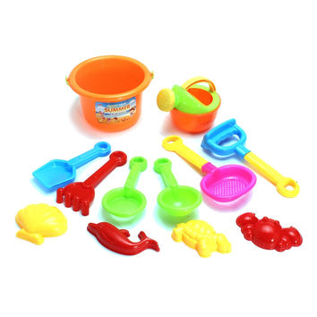 Newest Kids Children Sand Beach Bucket Toys Set of 12 Classic Toys Bathroom Funny Toys Sunglass Baby Blaying with Water Toys