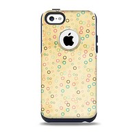 The Vintage Golden Tiny Polka Dots Skin for the iPhone 5c OtterBox Commuter Case