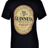 Guinness Men's Distressed English Label Tee Shirt