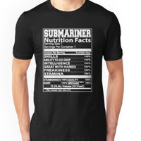 'Submariner Nutritions Facts' T-Shirt by mytshirt1991