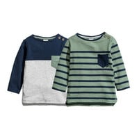 2-pack Long-sleeved Tops - from H&M