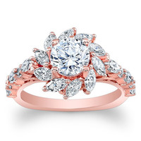 Barkev's Marquise Cut Halo Diamond Engagement Ring