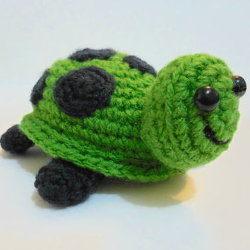 Cute Crochet Amigurumi Turtle - PATTERN ONLY