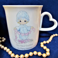 Precious Moments Coffee Cup Mug Porcelain You Have Touched So Many Hearts by Enesco