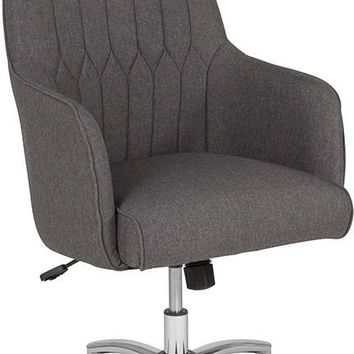 Albi Home and Office Upholstered High Back Chair in Dark Gray Fabric [BT-90910H-DGY-F-GG]