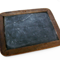 Antique Slate Board, Vintage School Supplies, Folk Art Decor, As-Is Slate Board