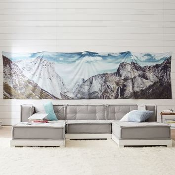 Panoramic Mountain Tapestry