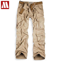 clothing casual trousers for men multi-pocket army cargo pants
