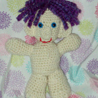 Purple Hair Troll Doll Crochet Troll Amigurumi Troll Doll Stuffed Toy