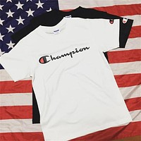 Champion letters print top T-shirts