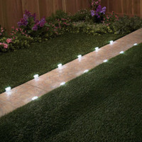 12 Solar Lighted Pathway Markers Walkway Lights Yard Lawn Garden Outdoor Decor