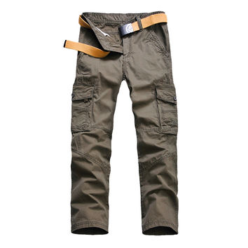 Men's joggers Pants Military for Men multi pocket Overalls tactical Army Trousers Camouflage