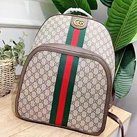 GUCCI New fashion stripe more letter leather high quality backpack bag women