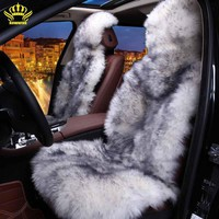 100%Natural Fur Australian Sheepskin Car Seat Covers Universal Size,6 Colors,Long Hair For Car