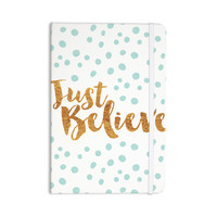 "Nick Atkinson ""Just Believe"" White Gold Everything Notebook"