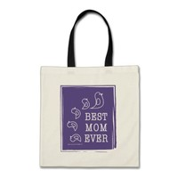 Best Mom Ever - Cute Funny Birds Violet Purple Tote Bag