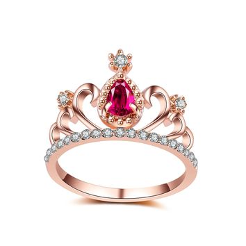 Gift Stylish Shiny New Arrival Jewelry Accessory Winter Innovative Crown Ring [179843956762]