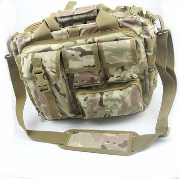 "Men's Shoulder Bags Molle Outdoor Sport Rucksack 15"" Laptop Camera Mochila Military Tactical Computer Bag"