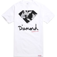 Diamond Supply Co Chill Floral Script T-Shirt - Mens Tee - White -