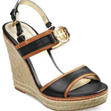 TOMMY HILFIGER PLATFORM WEDGE SANDALS