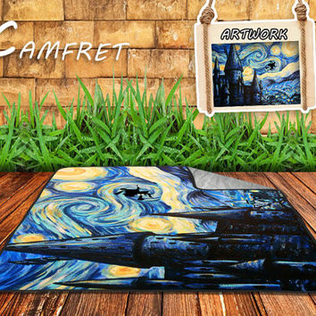 Starry Night Harry Potter Blanket, Movie, Art, Parody, Fleece Blanket, by CAMFRET
