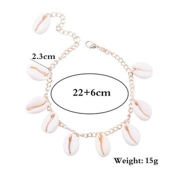 Bohemian personality beach shell brush anklet chain anklet chain