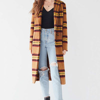 BB Dakota Plaid Top Coat | Urban Outfitters