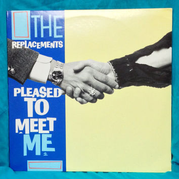 Vintage 80s The Replacements Pleased To Meet Me Album Vinyl Record LP