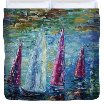 Sails To-night - Duvet Cover