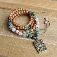 Sandalwood Heart Chakra Mala Necklace