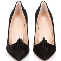 Christian Louboutin Fashion Edgy Pointed Heels Shoes-4