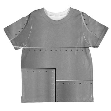 Halloween Robot Rivets Costume Steel All Over Toddler T Shirt