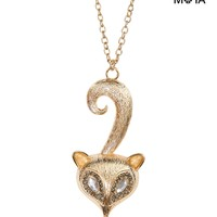 FOX LONG-STRAND NECKLACE