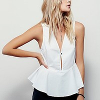 Free People Womens Beacon Blouse
