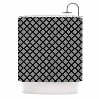 "Trebam ""Dijamanti"" Black Gray Shower Curtain"