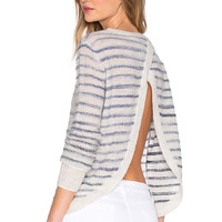 Pam & Gela Cross Back Pullover in Neutral Stripe