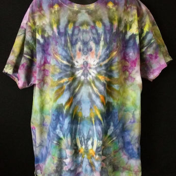 Size XL | Hand Ice Dyed Tie Dye | Hanes Beefy T 6.1oz | Adult