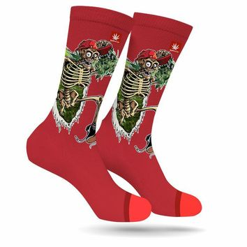PARTY TIME WEED MARIJUANA STONER SOCKS