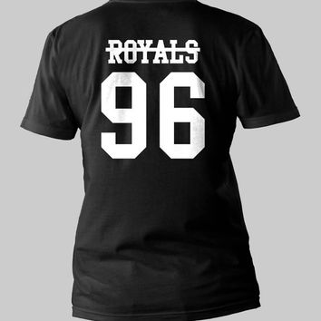 Lorde Never Royals 96 date of birth Music Tour Printed Back Men or Women Shirt Unisex Size  Black and White T-Shirt