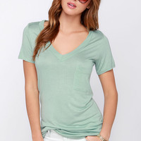 Tonight, V Are Young Sage Green Tee