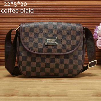 LV Louis Vuitton checkerboard shoulder bag shoulder bag handbag F-a-BBPFCJ Coffee plaid