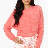 Pink Lemonade Fuzzy Sweater