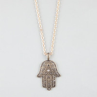 Full Tilt Hamsa Hand Necklace Gold One Size For Women 24276262101