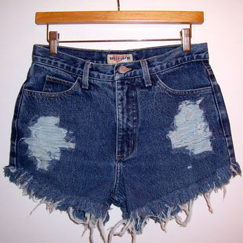 Distressed Vintage High Waisted Denim Shorts