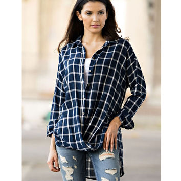 Steezyer Anna Plaid Boyfriend Shirt
