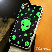Alien We Out Here iPhone 4 5 5c 6 Plus Case, Samsung Galaxy S3 S4 S5 Note 3 4 Case, iPod 4 5 Case, HtC One M7 M8 and Nexus Case