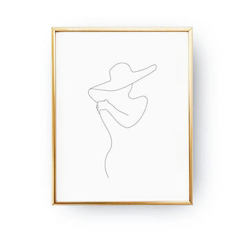 Female Front Side, Female Figure Art, Feminine Poster, Black And White, Sketch Art, Minimal Art, Woman Silhouette, Woman Print, Beauty Print